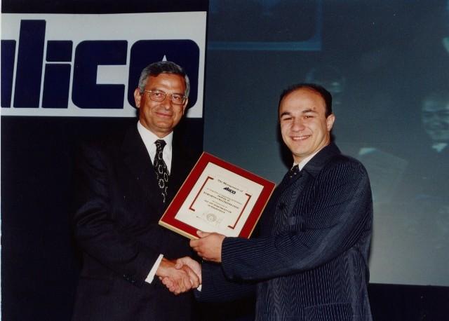 Award from Presidenrt Mr. Andreas Vasileiou - 1997